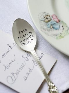 Personalised Silver Plated Christening and Baptism Teaspoon