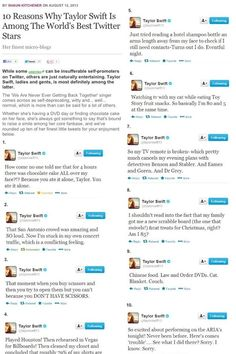 Question #24: do you prefer taylor swift blogs, vlogs or tweets?? Answer: TWEETS, BY FAR.