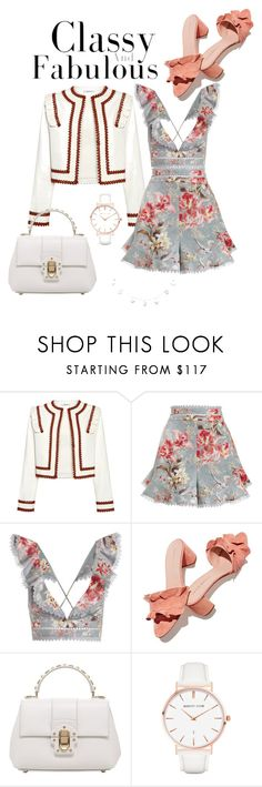 """Untitled #56"" by tinatin97 ❤ liked on Polyvore featuring Ganni, Zimmermann, Loeffler Randall, Dolce&Gabbana and Abbott Lyon"
