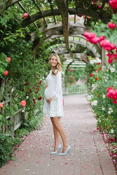 Gorgeous race day, wedding or special occasion #maternitystyle #stylishpregnancy