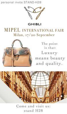 www.ghiblisrl.com Mipel pav10 stand H28 17/20 September . commerciale@ghiblisrl.com for info, order, price