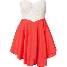 Club L Sweetheart Neckline Dress ($17) ❤ liked on Polyvore featuring dresses, vestidos, robe, short dresses, coral, party dresses, womens-fashion, red mini dress, lace mini dress and red cocktail dress
