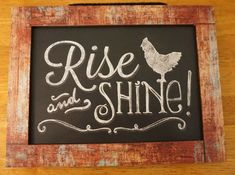 Country Primitive Wood Rise & Shine Rooster Farm House Kitchen Home Decor Sign  #HighlandGraphicsInc #Country