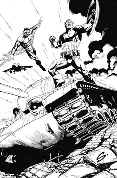 Captain America & Falcon - Steve Scott