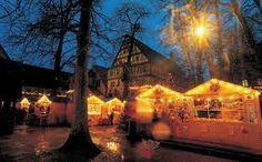 Kerstmarkt in Valkenburg, sprookjesachtig in Limburg.