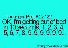 I can't do this anymore cuz I found out that everytime I do it makes me fall bak asleep then I'm late