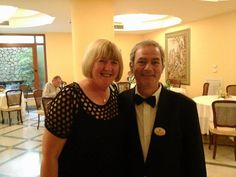 Hotel Zi' Teresa guest and friend Christine with restaurant staff! Sorrento, 4 Star Hotels, Swimming Pools, Restaurant, Swiming Pool, Pools, Restaurants, Dining Room