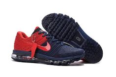 Fashion Nike Air Max 2017 Navy Blue Red Sports Shoes Special Sale - $69.88