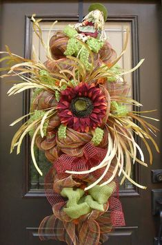 Deco Mesh Fall Swag Fall Wreaths Harvest Decor by LuxeWreaths, $159.00