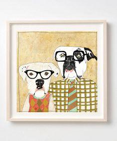 Art Print on Paper, Dorks, Dogs, Nerds, Illustration, Dog poster, Dog lover gift, Humor, Fun wall decor, Nerd gift