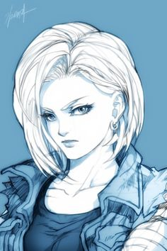 Android 18 from the Dragon Ball Z anime