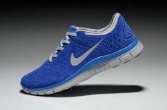 Nike Free 4.0 V2 Suede Unisex Womens/Mens Royal Blue White