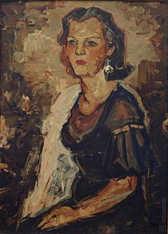 Ľudovít Fulla: Podobizeň umelcovej manželky:1934
