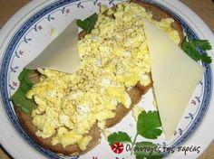 αγγλικά scrambled eggs Scrambled Eggs, Breakfast Time, Cauliflower, Brunch, Vegetables, Recipes, Food, Decoration, Decor