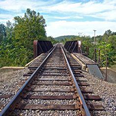 Rail Road Tracks into Town