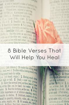 8 verses that will help you heal