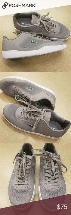 WEEKEND SALE! LACOSTE TRAMLINE SNEAKERS NWT. CAN BE UNISEX -  MENS SIZE 7 / WOMANS SIZE  9 . NO BOX Lacoste Shoes