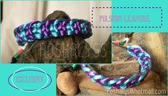 Las Manualidades de Roshalyss: pulsera lila y azul