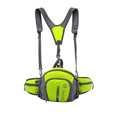 Yucyun Unisex Multifunctional Durable Waterproof Outdoor Waist Pack for Running Hiking Cycling Climbing Camping Travel Green ** Want additional info? Click on the image.