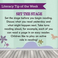 Literacy Tip of the Week