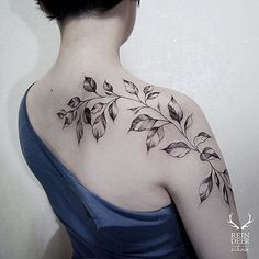 watercolor tattoo leaves - Google Search