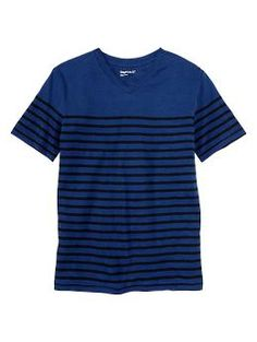 Striped V-neck T - His favorite wardrobe staple, now in a new slimmer fit.