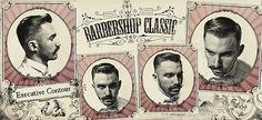vintage retro rockabilly 1950 hairstyle gentlemen 1960 Pompadour haircut flattop Schorem Haarsnijder En Barbier 60