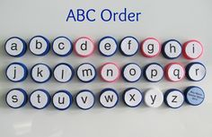 Teacher Mama: Bottle Caps ABCs - Boy Mama Teacher Mama
