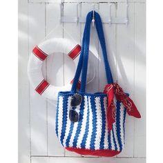 Ravelry: Nautical Striped Bag (Crochet) pattern by Lily / Sugar'n Cream