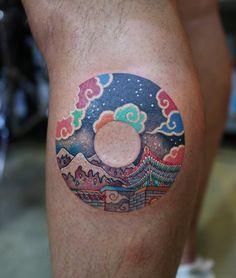 full moon japanese tatt Star Tattoos, Word Tattoos, Cute Tattoos, Tattoos For Guys, Script Tattoos, Flower Tattoos, Tattoo Japanese Style, Japanese Sleeve Tattoos, Japanese Dragon Tattoos