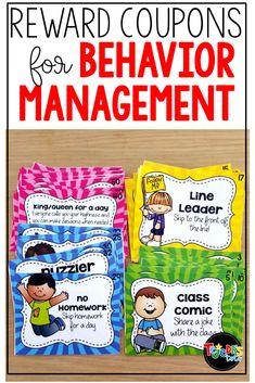 Behavior Coupons, Classroom Reward Coupons, Classroom Reward System, Behavior Charts, Classroom Themes, Future Classroom, School Classroom, Classroom Organization, Positive Behavior Management