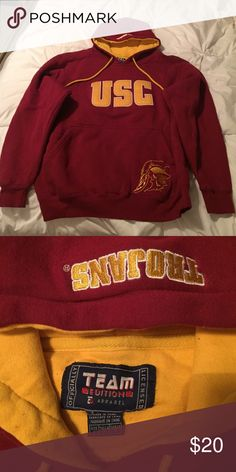 Usc hoodie Licensed USC hoodie. Size small. Great condition. Nice thick material Tops Sweatshirts & Hoodies