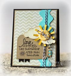 Card by Amy Sheffer using Stronger Love from Verve.  #vervestamps