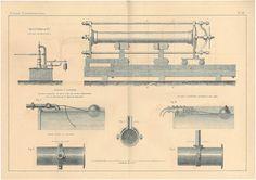 1872 Hydraulic Press Technical Drawing Engineering by carambas, $20.00