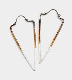 Ombre Silver Triangle Hoop Earrings by Silversheep Jewelry