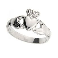 """Claddagh Ring: I rock one of these everyday! It was a birthday gift from my parents on my 18th birthday-My mama said """"you don't need a man to buy you, your first diamond"""" :D"""