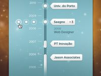 Jobs Timeline (WIP) designed by Dani Alves. Connect with them on Dribbble; Interface Design, User Interface, Ui Design, Layout Design, Flat Design, Information Age, Information Design, Iphone Ui, Dani Alves