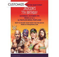 wwe birthday invitation templates
