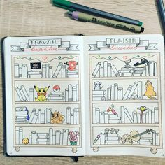 "This is the whole double page of a ""Books to read "" log. Clever idea!"