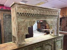 Your place to buy and sell all things handmade Spanish Style Interiors, Fireplace Mantle, Hand Carved, Pergola, Interior Decorating, Shabby Chic, Carving, Indoor, Outdoor Structures