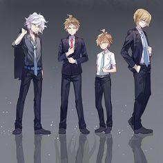 Tags: Anime, Pixiv Id 11535679, Super Danganronpa 2, Danganronpa, Komaeda Nagito, Togami Byakuya, Hinata Hajime