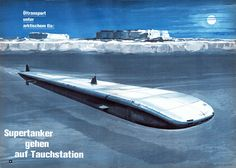 1970 Retro-Futurism   Retro-Futurismus: Klaus Bürgle - Meere und Schiffahrt