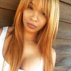 strawberry blonde hair with golden blonde hi lights
