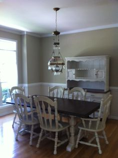 A table, chairs and hutch makeover for Lori and John's new home. They wanted a cozy, country feel and this was just perfect for their space! LOVE!