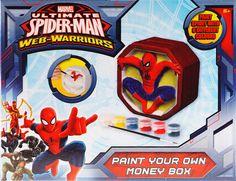 Spiderman Piggy Bank Paint Your Own Money Box Spiderman Kids Christmas Gift #Marvel #Spiderman #PiggyBank #Paint Your Own #MoneyBox #Spiderman #Kids #Christmas #birthday #Gift