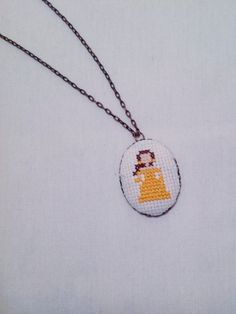 Belle Princess Necklace, Disney Fan Gift, Minimalistic, Beauty and the Beast