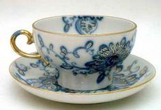 Lomonosov xícaras de porcelana e Pires ♥ por Rachael