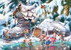 Christmas Sami Leprechauns by Zorina Baldescu