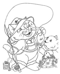 Cats Coloring Page 83 Wallpaper