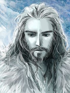 "Thorin Oakenshield from ""The Hobbit"" - Art by もこ@プロフ更新 on Pixiv, found via Zerochan"